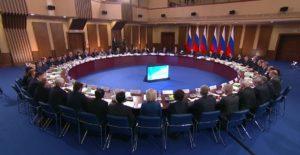 Совместное заседание президиума и консультативной комиссии Государственного совета о мерах по повышению инвестиционной привлекательности регионов. Фото: kremlin.ru